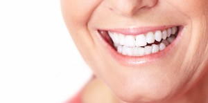 Happy woman smile dental care